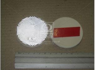 Катафот круглый с пластмассовым корпусом липучка (белый) (пр-во Украина) ФП-316