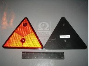 Световозвращатель МАЗ треугольный красный ТН-109 (пр-во Руденск) 3232.3731