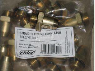 Прямое фитинговое соединение 6x1.0 / M 16x1.5 (RIDER) RD 99.02.66