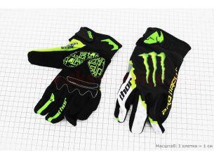 Перчатки мотоциклетные L-зеленые, тип 3