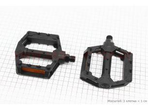 """Педали BMX 9/16"""" (111x99x23mm) пластиковые, черные 205DU"""