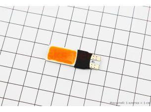 Лампа 2-диодная поворот/габарит, желтый T10