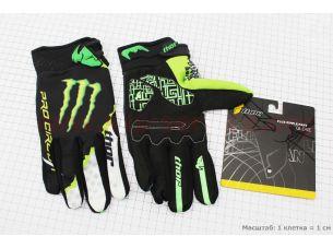 Перчатки мотоциклетные XL-зеленые, тип 1