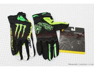 Перчатки мотоциклетные L-зеленые, тип 1
