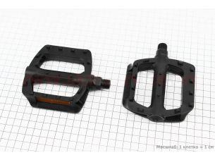 """Педали BMX 9/16"""" (107x95.5x25mm) пластиковые, черные LU-984DU"""