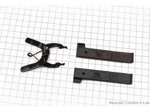 Ключ снятия и установки замка цепи + лопатки бортировочные, черные YC-335ST