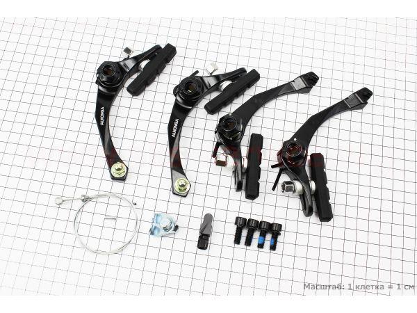 """Тормоз """"BMX"""" U-brake задний + передний алюминиевый, ход колодки 29-45мм, черные HJ-926AD, купить в магазине """"Auto parts"""""""