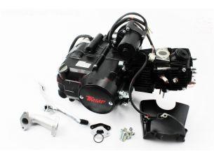 """Двигатель для квадроцикла (мопедный) в сборе 110куб  - """"механика"""" (1передача + 1 задняя)"""
