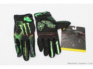 Перчатки мотоциклетные L-зеленые, тип 2