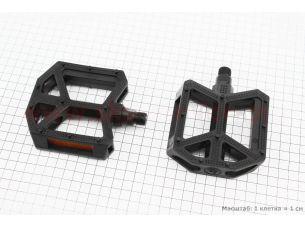 """Педали BMX 9/16"""" (109x96x30mm) пластиковые, черные B289DU"""