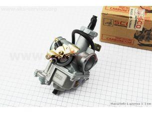 Карбюратор СВ/CG-150 (d=27), дросель под трос, с ускорительным насосом