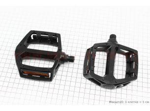 """Педали BMX 9/16"""" (107x105x28mm) алюминиевые, черные LU-313"""