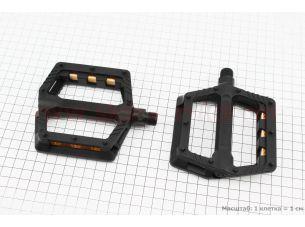 """Педали BMX 9/16"""" (110x100x23mm) пластиковые, черные B239DU"""