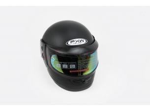 Шлем закрытый HF-101 M- ЧЕРНЫЙ матовый + стекло зеркальное