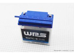 "Аккумулятор 9Аh MOTO 6МТС-9 кислотный (L140*W75*H140mm), 2020, круглая клема, МТ, ИЖ, ""WPS"""