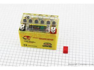 Аккумулятор 4Аh YTX4L-BS гелевый (L113*W70*H85 mm), с ИНДИКАТОРОМ, 2019 (завод OUTDO)