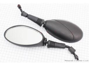 """Зеркала к-кт  """"ОВАЛ"""" с черной вставкой, м8 (ССС - знак качества)"""