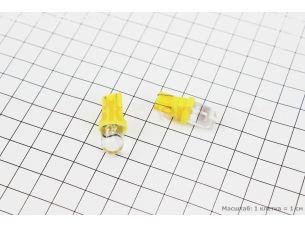 Лампа 1-диодная LED поворотов ЖЕЛТЫЙ T10, 2шт