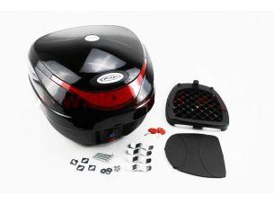 Кофр средний (пластмассовый) 390*390*300мм, крепл. быстросъемное, черный HF-805