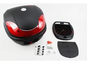 Кофр средний (пластмассовый) 380*380*300мм, крепл. быстросъемное, черный матовый HF-816