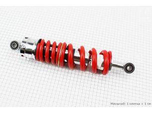 Амортизатор задний МОНО 325мм*d72мм (втулка 10мм / втулка 10мм) регулир., красный