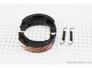 Тормозные колодки барабан Honda DIO 50 (пружины под углом)