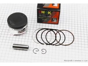 Поршень, кольца, палец к-кт 200cc 63,5мм +0,25 (палец 15мм) тефлоновое покрытие