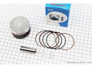 Поршень, палец, кольца к-кт 110сс 52,4мм +0,25 (палец 13мм) тефлоновое покрытие, Japan technology