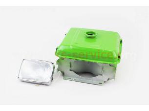 Бак топливный R190N, 275x220x165мм, выст. горловина, отверстие под шланг топливный + фара