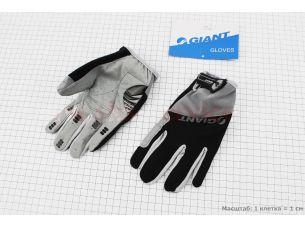 """Перчатки M-черно-серые, с мягкими вставками под ладонь """"GIANT"""""""