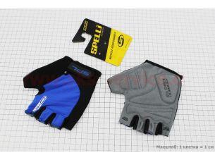 Перчатки без пальцев L-черно-cиние, с гелевыми вставками под ладонь SBG-1457