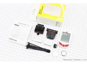 """Велокомпьютер 20-функций, беспроводной, 1.9 """" дисплей, влагозащитный, белый YS-661С"""
