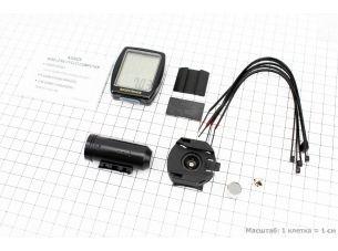 Велокомпьютер 8-функций, беспроводной, черный AS-4000