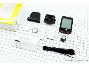 """Велокомпьютер 22-функции, беспроводной, 1.9 """" дисплей с сенсорными кнопками управления, влагозащитный, черный YS-668С"""