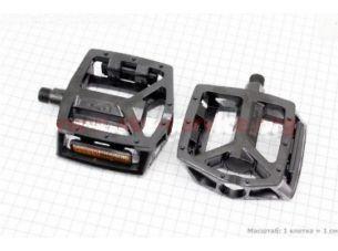 """Педали BMX 9/16"""" (111.5x102x22mm) алюминиевые, черные VB-249DU"""