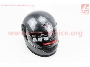 """Шлем закрытый BLD-825 - XS- """"КАРБОН"""" + воротник"""
