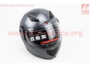 """Шлем закрытый с откидным подбородком+очки BLD-157 S-  """"КАРБОН"""""""