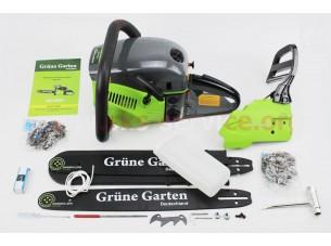 """Бензопила Grune Garten GG-6000  52cc (2,9кВт, шина 18"""") с подкачкой, плавный пуск. Крышка стар. и тор. - метал. (шина, цепь по 2шт)"""