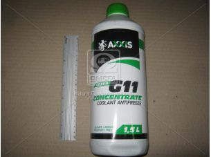 Антифриз <AXXIS> GREEN концентрат G11 (-80C) (Канистра 1,5л)