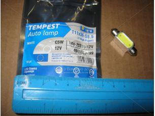 Лампа LED софитная C5W 12V  T11x36-S8.5 (1SMDx3chips) Mega-LED  WHITE <TEMPEST>