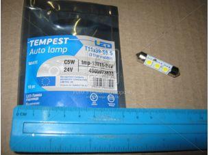 Лампа LED софитная C5W 24V T11x39-S8.5 (3 SMD size5050) WHITE <TEMPEST>