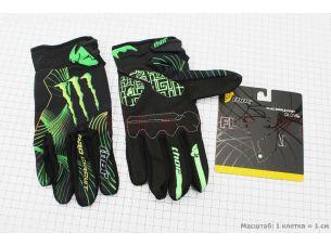 Перчатки мотоциклетные XL-зеленые, тип 2