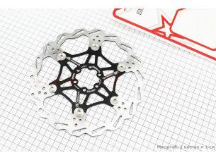 Тормозной диск 203мм, под 6 болтов, на алюминиевом пауке, черный FD-01