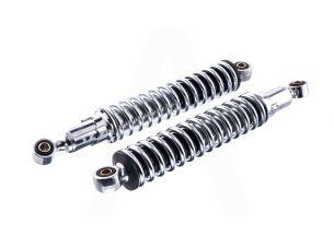 Амортизаторы (пара)   ИЖ   320mm, регулируемые, без рычага   (хром)   JING   (mod.B)