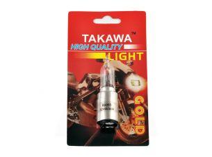 Лампа BA20D (2 уса)   12V 35W/35W   (белая, высокая, конусная)   (блистер)   TAKAWA