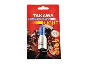 Лампа BA20D (2 уса)   12V 35W/35W   (супер белая, высокая)   (блистер)   (mod:073)   TAKAWA