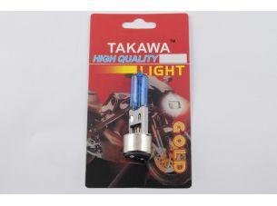 Лампа BA20D (2 уса)   12V 18W/18W   (супер белая)   (блистер)   TAKAWA   (mod:A)