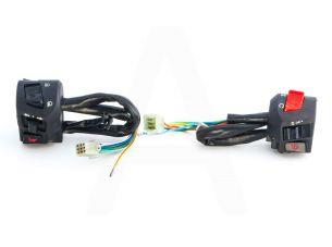 Блоки кнопок руля (пара)   Zongshen F5   (с двиг-стопом)   (черные)   HORZA