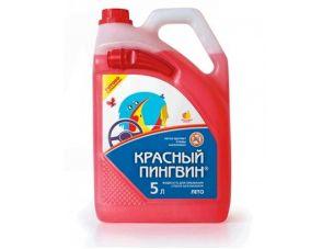Жидкость для омывания стекол автомобиля 5л.   Красный Пингвин   (ЛЕТО)   (50014)  (#VERYLUBE)