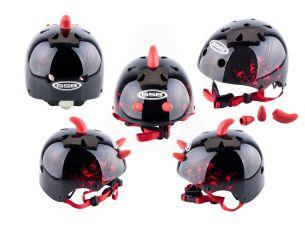 Шлем детский открытый   (черный)   (DEVIL)   GSB
